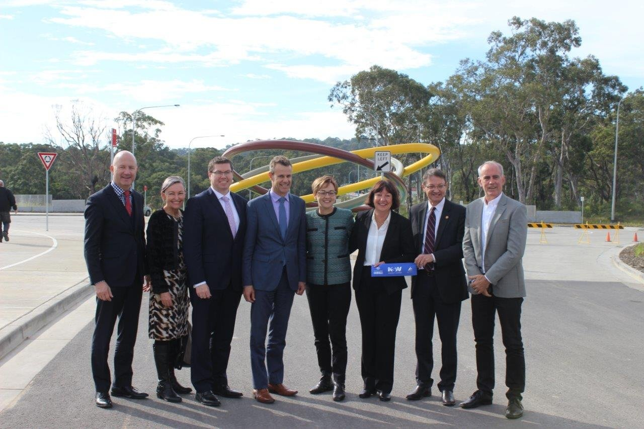 The new road which forms the first stage of the Lake Macquarie Transport Interchange project was officially opened today, bringing a bit of relief for motorists around the Glendale and Cardiff area.