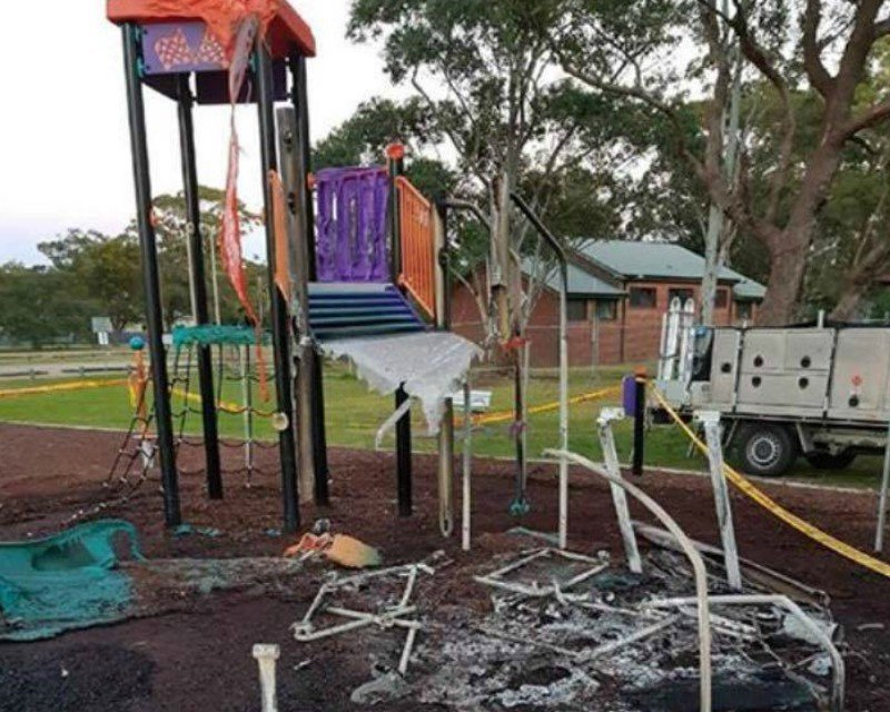 It's really pleasing that Lake Macquarie council is fast-tracking the replacement of the children's playground at Rathmines after it was burned down by vandals last month. I, like everyone else,