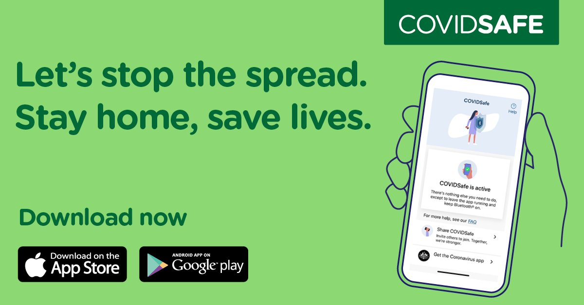 Lyn and I have both downloaded the COVIDSafe app. We were amongst the first 1 million who did because we believe it is for the greater good and